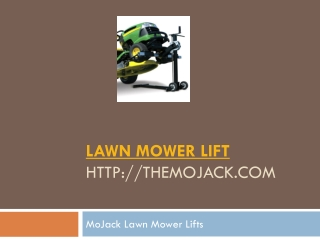 MoJack Lawn Mower Lifts