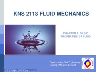 KNS 2113 FLUID MECHANICS