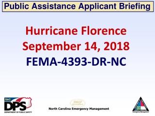 Public Assistance Applicant Briefing