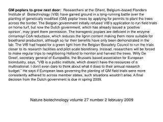 Nature biotechnology volume 27 number 2 february 2009