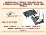 SECRETARIA DEL TRABAJO Y PREVISION SOCIAL DIRECCION GENERAL DE SEGURIDAD Y SALUD EN EL TRABAJO
