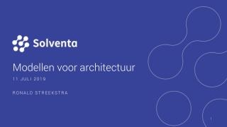 Modellen voor architectuur