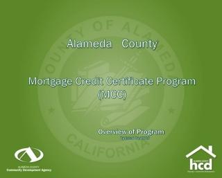 Alameda   County Mortgage Credit Certificate Program (MCC)