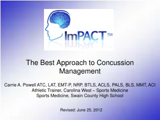 The Best Approach to Concussion Management