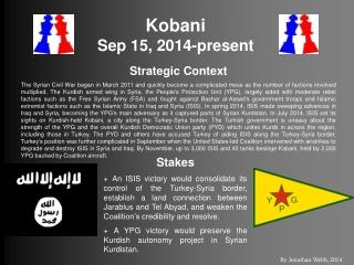 Kobani Sep 15, 2014-present