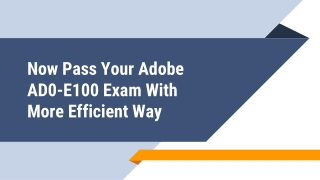 AD0-E100 Exam Dumps