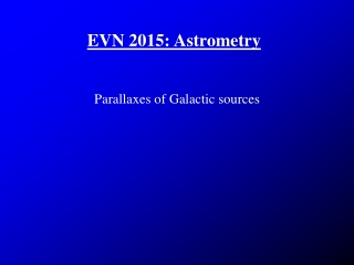 EVN 2015: Astrometry