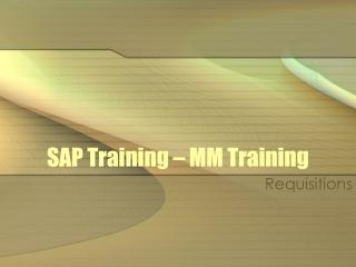 SAP Training – MM Training