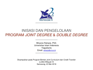 Inisasi  dan  pengelolaan Program  joint degree  &  double degree
