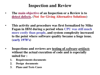 Inspection and Review