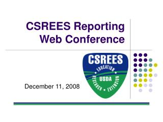 CSREES Reporting Web Conference