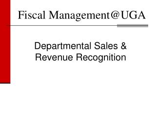 Fiscal Management@UGA
