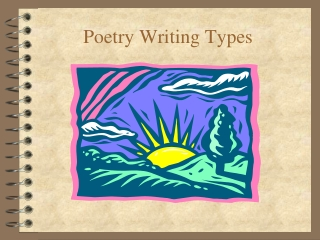 Poetry Writing Types