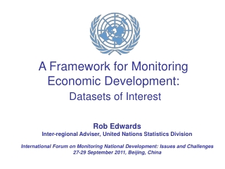 A Framework for Monitoring Economic Development: Datasets of Interest