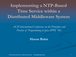 Implementing a NTP-Based Time Service within a Distributed Middleware System