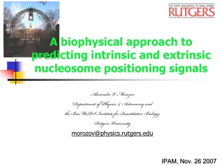 A biophysical approach to predicting intrinsic and extrinsic nucleosome positioning signals