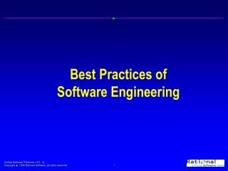 Best Practices of Software Engineering