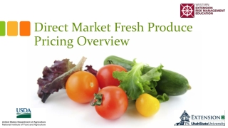 Direct Market Fresh Produce Pricing Overview