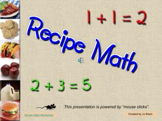 Food preparation and math go hand in hand.Basic math skills can help you understand the units of measure given in recipe