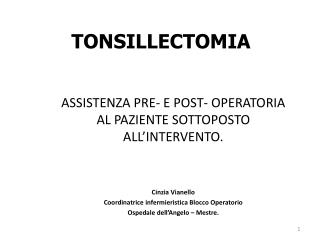 TONSILLECTOMIA