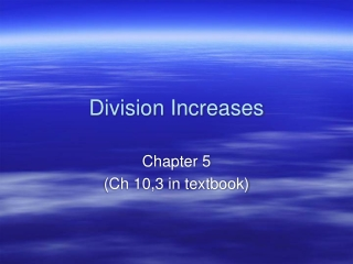 Division Increases
