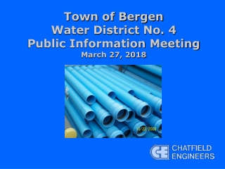 Town of Bergen Water District No. 4 Public Information Meeting March 27, 2018