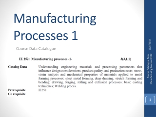 Manufacturing Processes 8