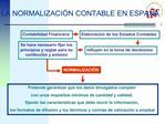 LA NORMALIZACI N CONTABLE EN ESPA A