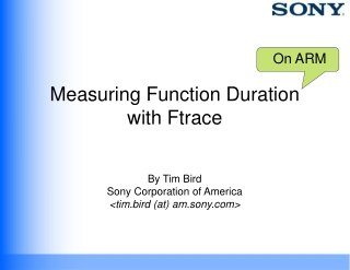 Measuring Function Duration with Ftrace