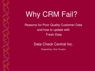 How to get quality customer data for CRM