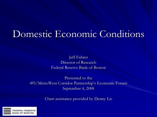 Domestic Economic Conditions