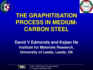 THE GRAPHITISATION PROCESS IN MEDIUM-CARBON STEEL