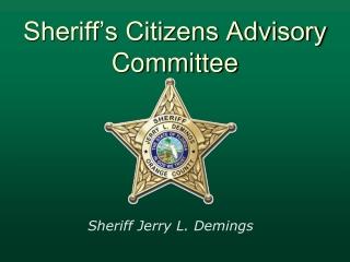 Sheriff's Citizens Advisory Committee