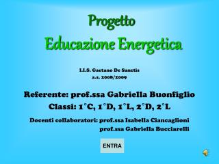 Progetto  Educazione Energetica