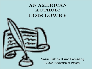 An American Author: Lois Lowry