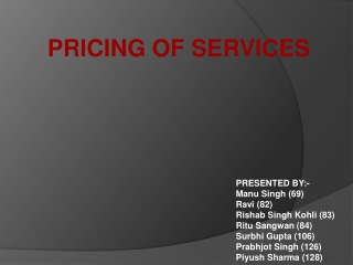 pricing in services