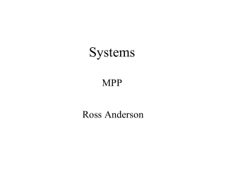 Systems MPP