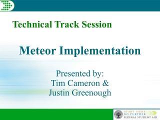 Meteor Implementation