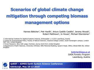Scenarios of global climate change mitigation through competing biomass management options