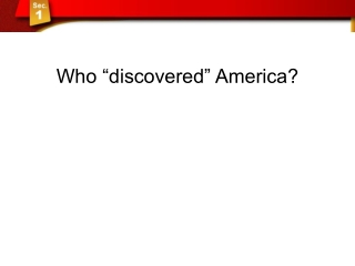 """Who """"discovered"""" America?"""