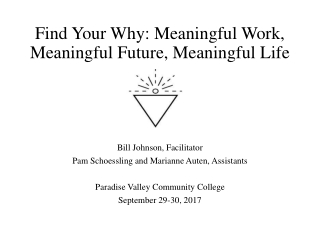 Find Your Why: Meaningful Work, Meaningful Future, Meaningful Life