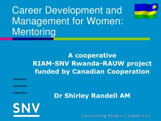 Career Development and Management for Women: Mentoring