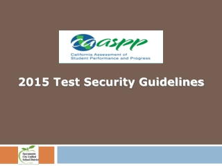 2015 Test Security Guidelines