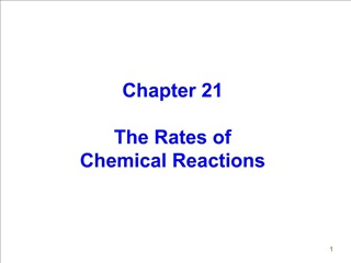 Chapter 21  The Rates of Chemical Reactions