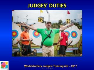 JUDGES' DUTIES