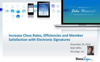 Increase Close Rates, Efficiencies and Member Satisfaction with Electronic Signatures