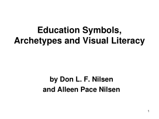Education Symbols, Archetypes and Visual Literacy