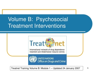 Volume B:  Psychosocial Treatment Interventions