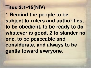 Titus 3:1-15(NIV )