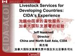 Livestock Services for Developing Countries: CIDA s Experience  -